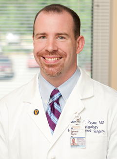 Spencer Payne specializes in nasal problems and sinus surgery in Charlottesville
